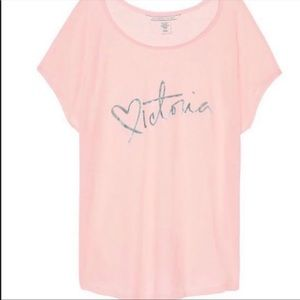 NWT Victoria's Secret Light Pink Victoria Tee